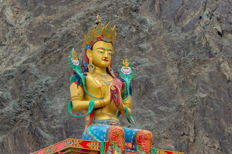 Fotoreise Ladakh, Nzbra Valley, Buddha Statue