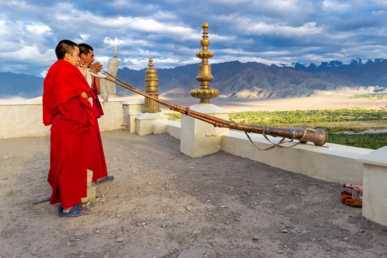 Fotoreise Ladakh, Ruf zum Morgengebet