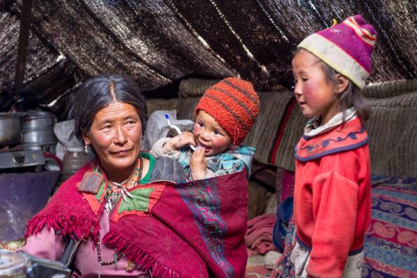 Fotoreise Ladakh, Changpa-Familie