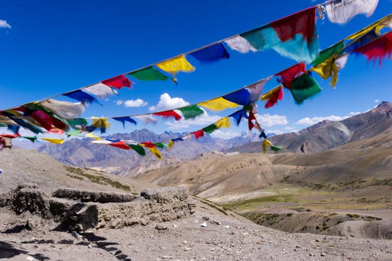 Fotoreise Ladakh, Gebetsfahnen, Passhöhe