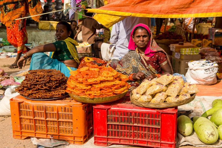 Fotoreise Indien zu lebhaftem Markttreiben