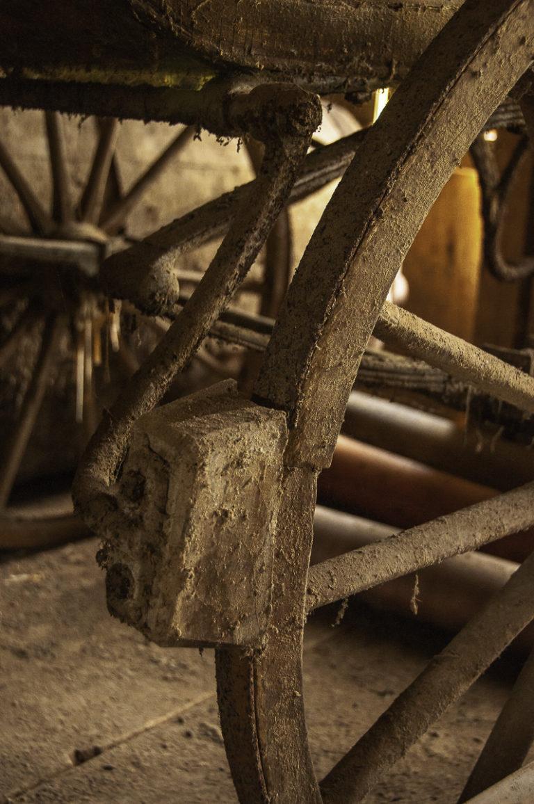 Wagenrad mit Bremse, Bauernof