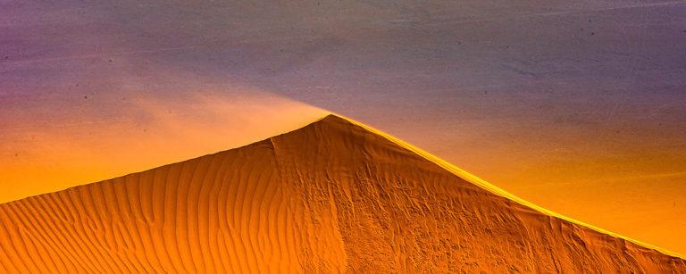 Oman, Sandsturm über die Dünen