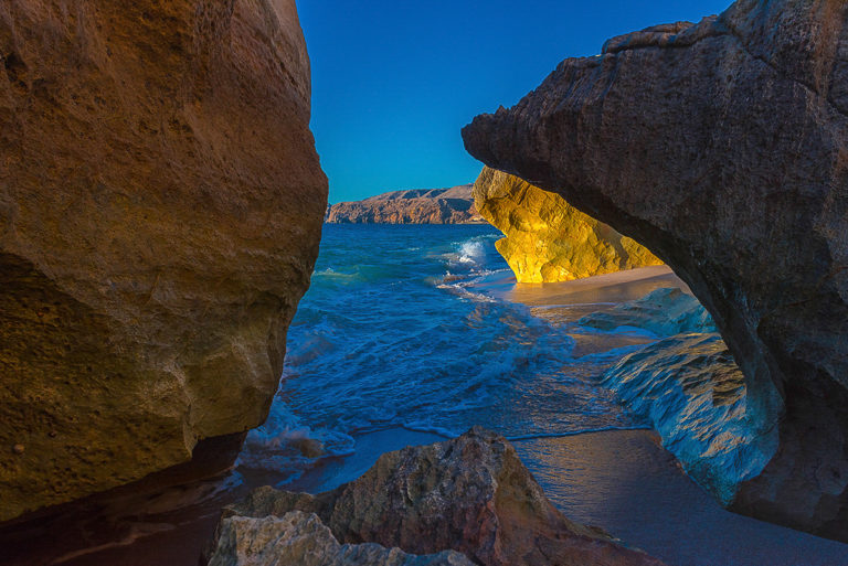 Felsenküste bei den Schildkröten-Laichplätzen, Fotoreise Oman