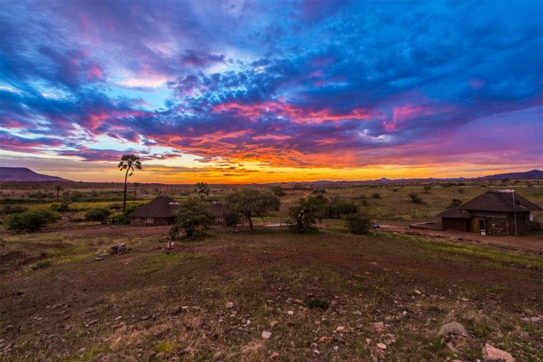 sonnenuntergang palmwag namibia
