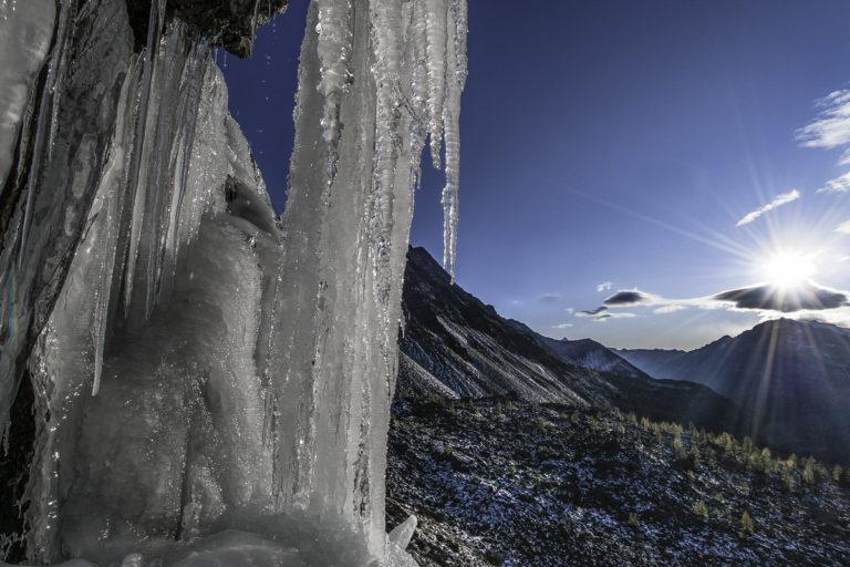 Eisfall, Eiszapfen, Engadin