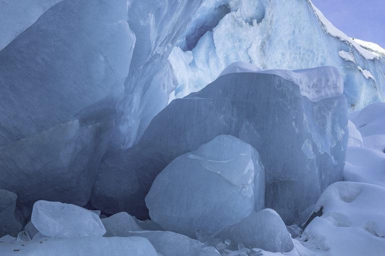 Eisklötze am Morteratsch, Gletscher