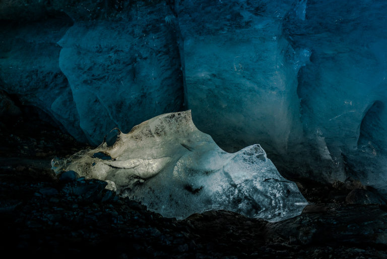 Eisdrachen im Gletscher