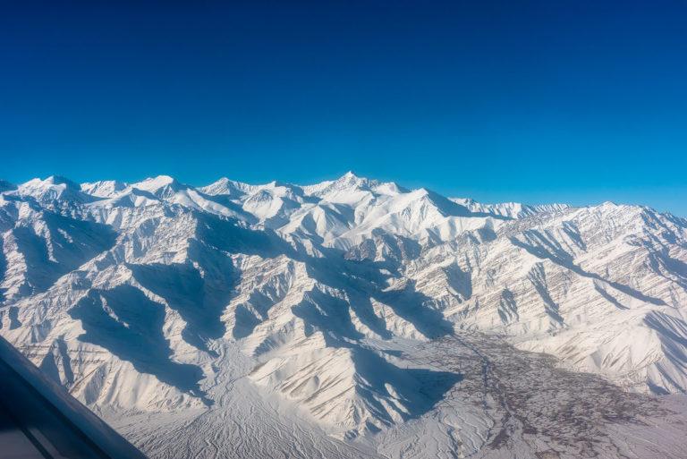 Hemis Nat.-Park aus dem Flugzeug, Fotoreise Schneeleoparden