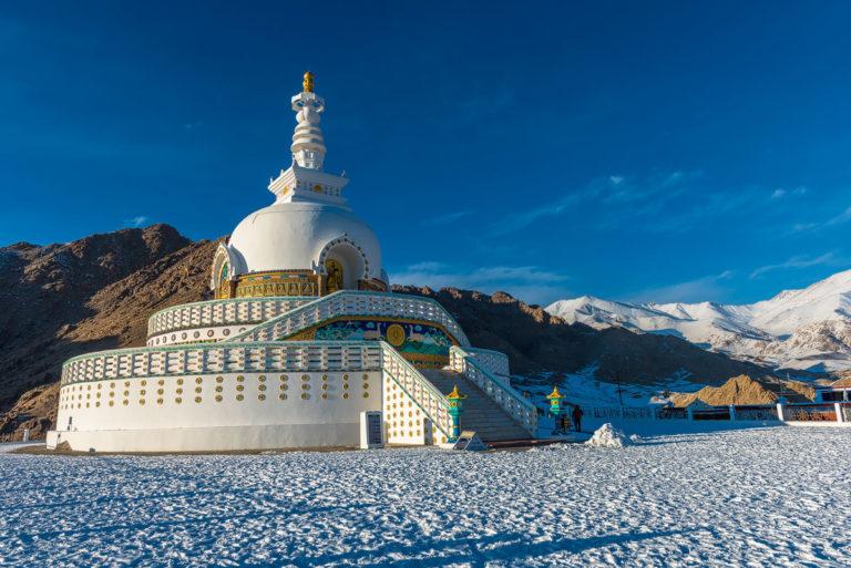 Shanti Stupa, Leh, Ladakh, Indien