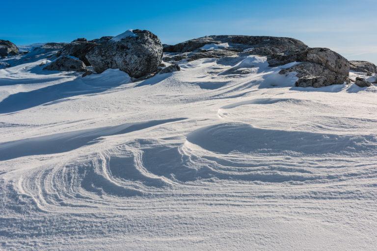 Schneeverwehungen im Dovrefjell