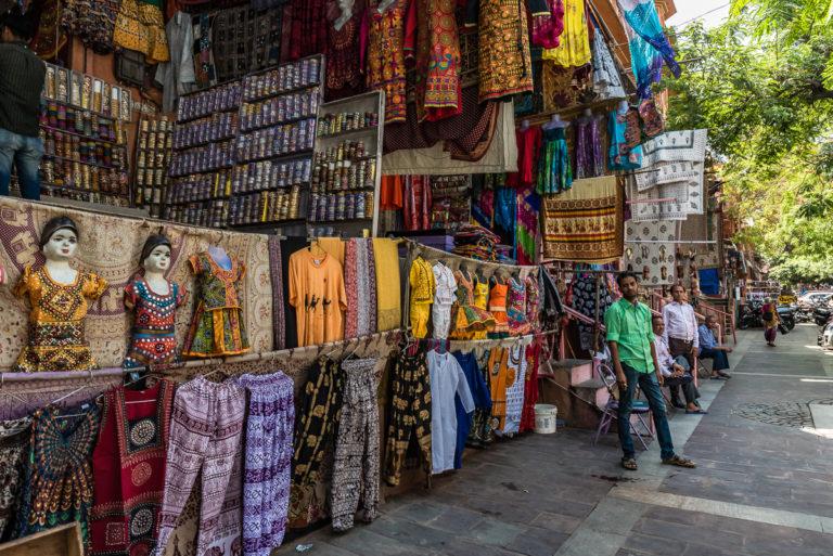 Kleiderladen in Indien, Jaipur