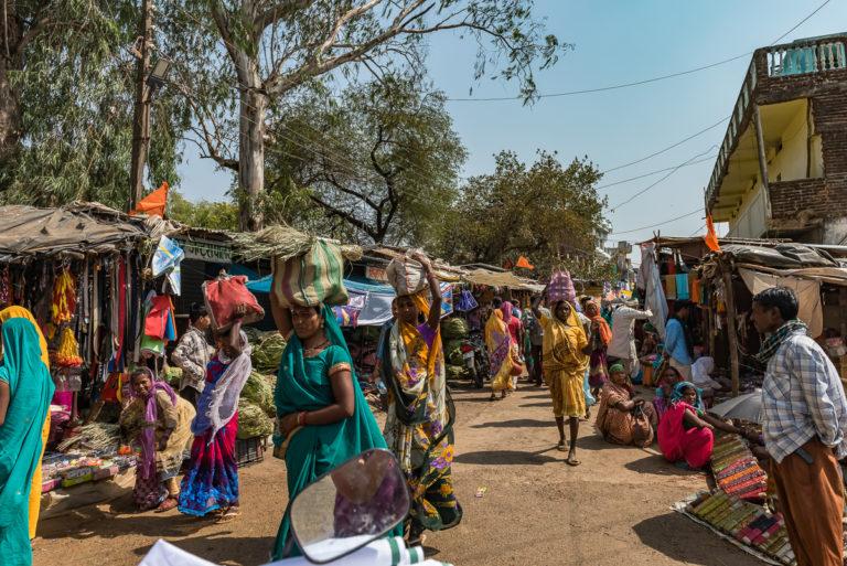 Indien, Wochenmarkt in Agra