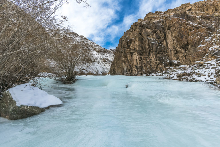 Eisfluss Stok Valley, Ladakh