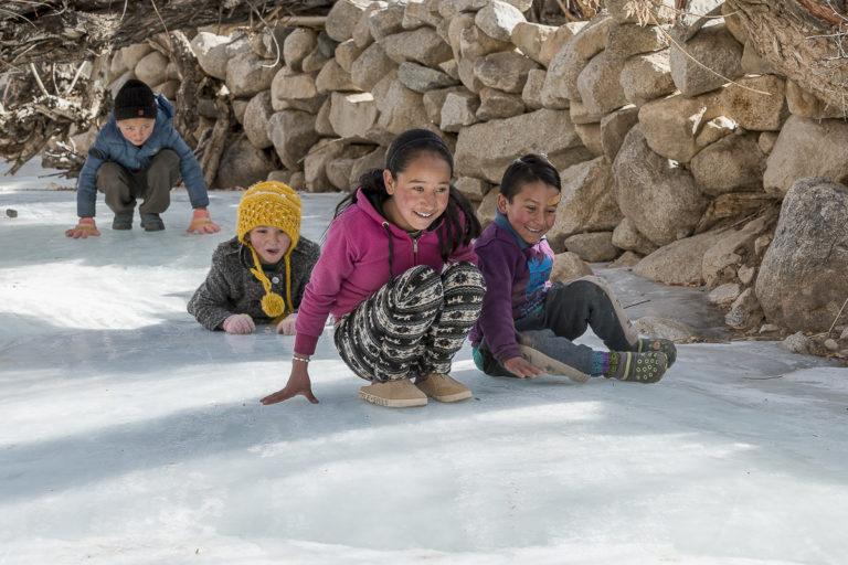 Kinder von Ullay, Ladakh