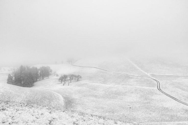Winterlandschaft am Hirzel