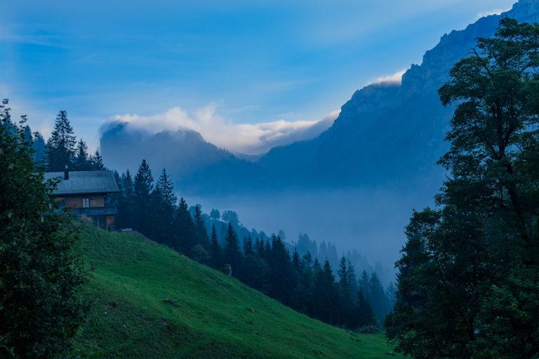 Morgenstimmung im Berner Oberland, Justistal