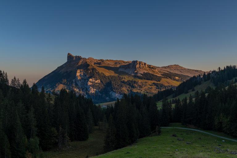 Emmental Schrattenfluh, Sonnenaufgang im Herbst