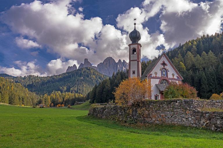 Kapelle St. Johann in den Dolomiten, Herbst