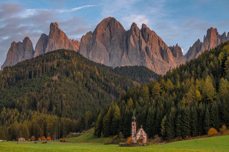 Kirche St. Johann, St. Magdalena, Val Di Funes, Dolomiten