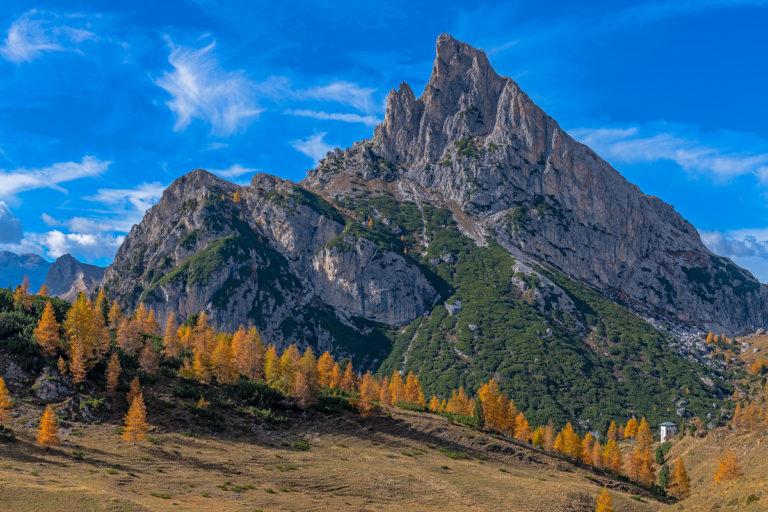 Dolomiten Goldene Lärchen Herbst Italien