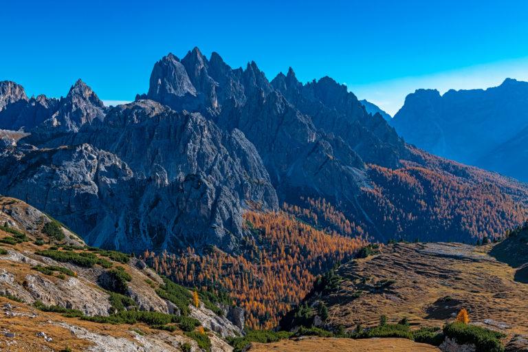 Dolomiten, Tre Cime, Blick nach Süd-Westen