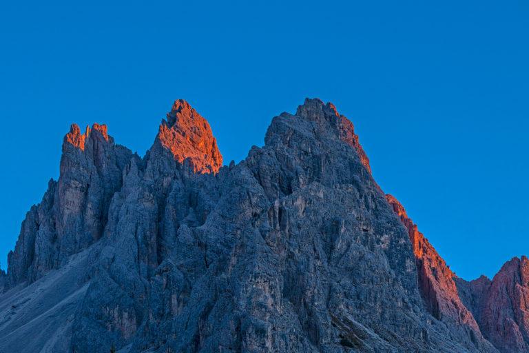 Dolomiten, Sonnenuntergang, Bergspitzen
