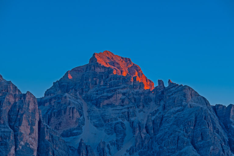 Passo Giau Tofana Berge Leuchtender Sonnenaufgang