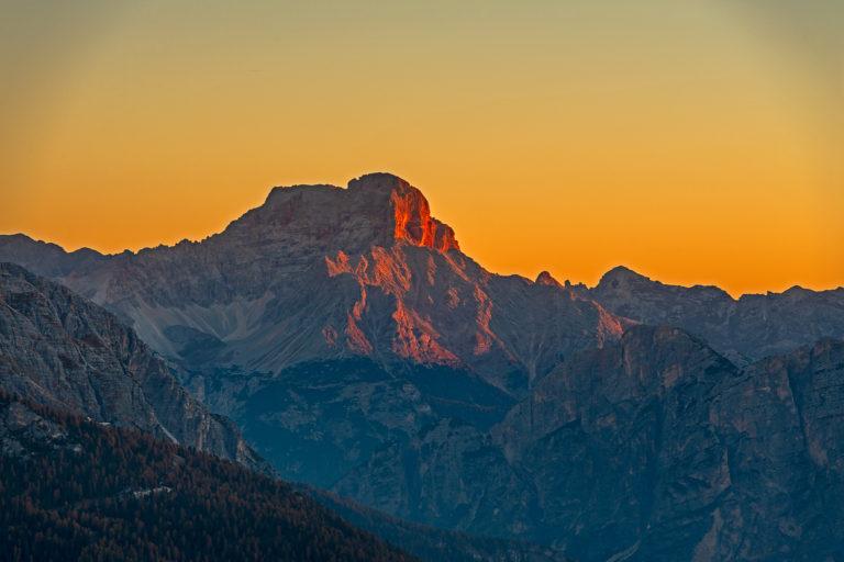 Dolomiten Passo Giau Berge Sonnenaufgang Tofana