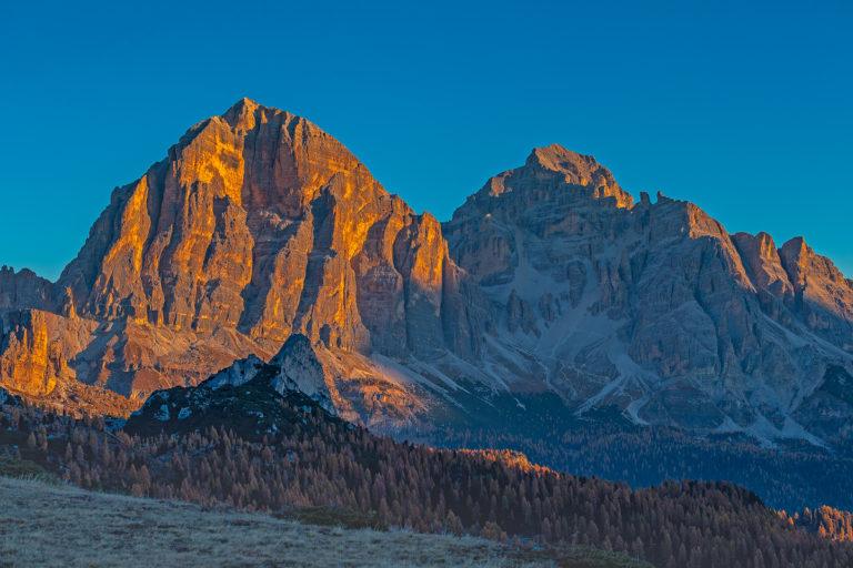 Dolomiten Passo Giau Tofana Berge Sonnenaufgang Dolomiten