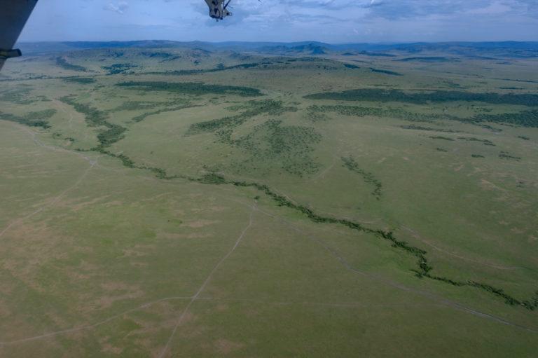Kenia, Masai Mara aus dem Flugzeug
