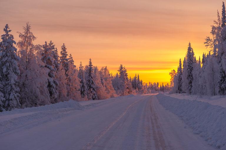 Lappland, Fahrt in den Norden