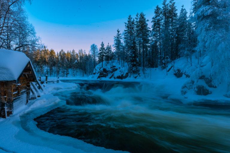 Lappland Myllykoski Stromschnellen, Mühle